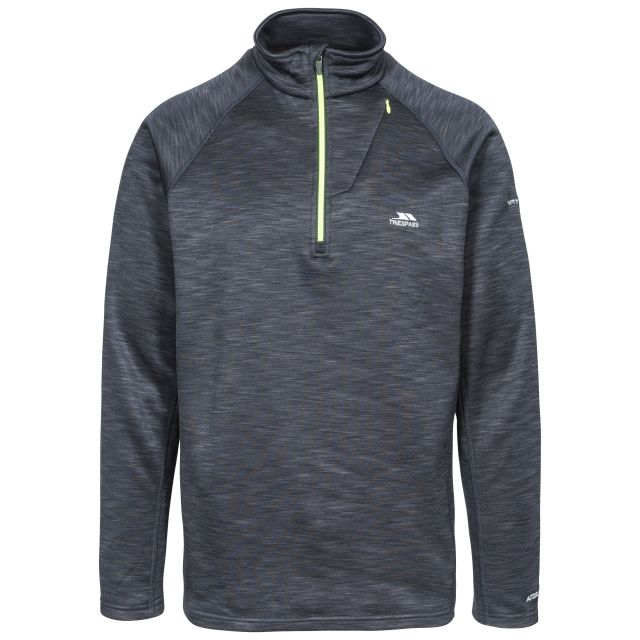 Collins Men's 1/2 Zip Fleece in Black