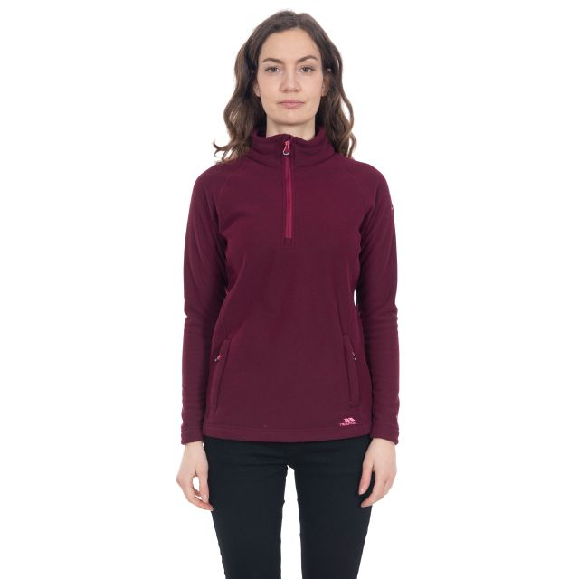 Commotion Women's 1/2 Zip Fleece in Purple