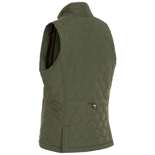 Companion Women's Padded Quilted Gilet in Khaki