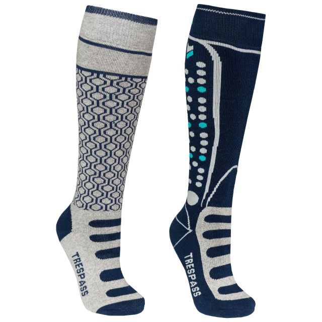 Concave Kids' Ski Socks - 2 Pack in Grey