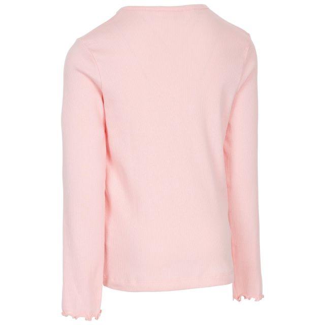 Trespass Kids T Shirt Long Sleeved Flute Cuffs Content Light Pink