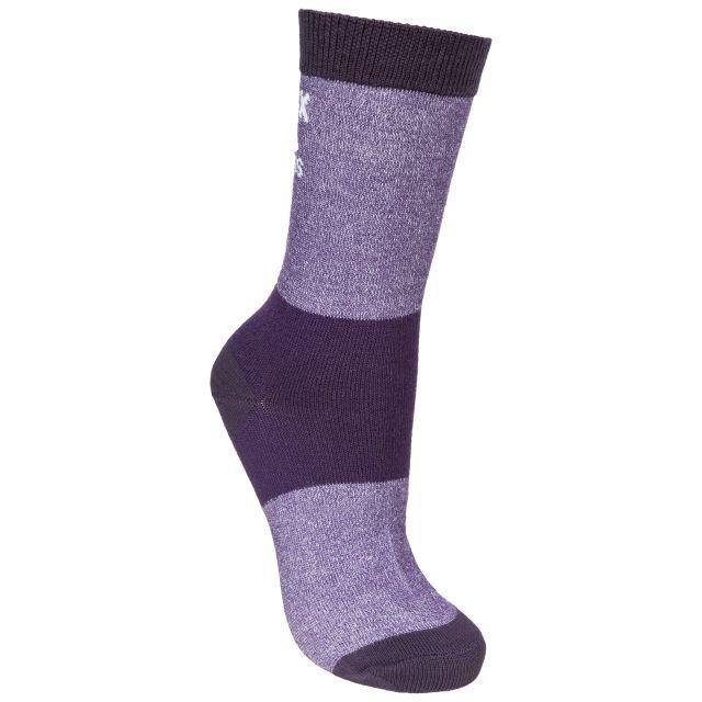 Cool Women's Walking Socks in Purple