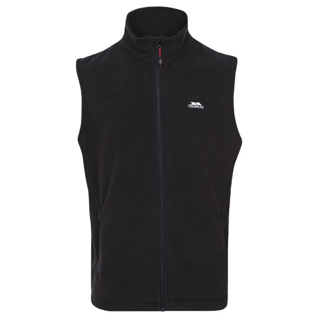 Cordoba Men's Fleece Gilet Jacket in Black