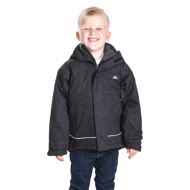 Cornell Kids' Waterproof Jacket in Black