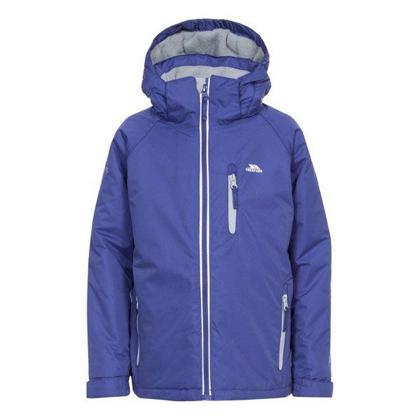 Cornell II Kids' Waterproof Jacket in Purple, Front view on mannequin