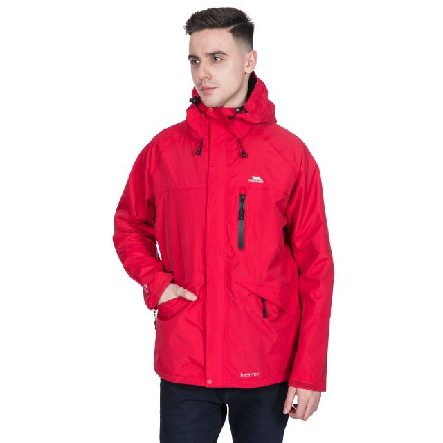 Corvo Men's Waterproof Windproof Jacket in Red