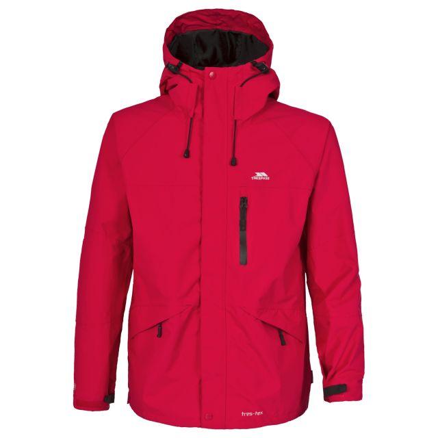 Corvo Men's Waterproof Windproof Jacket in Red