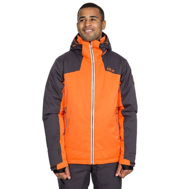 Coulson Men's DLX Waterproof RECCO Ski Jacket in Orange