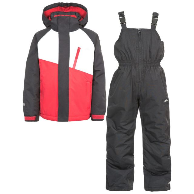 Crawley Kids' Waterproof Ski Suit Set in Black