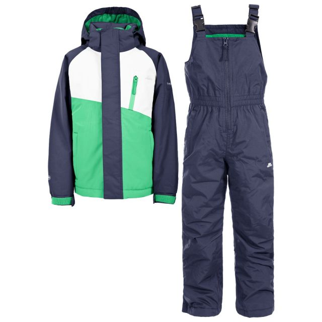 Crawley Kids' Waterproof Ski Suit Set in Green