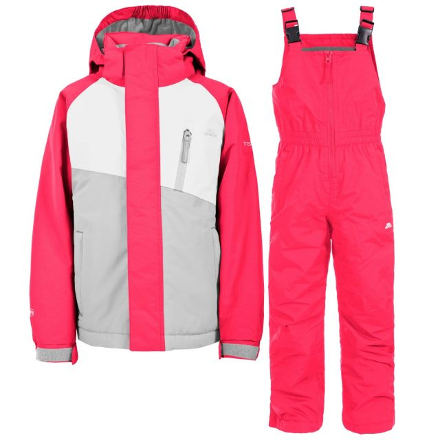 Crawley Kids' Waterproof Ski Suit Set in Pink