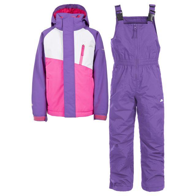 Crawley Kids' Waterproof Ski Suit Set in Light Purple