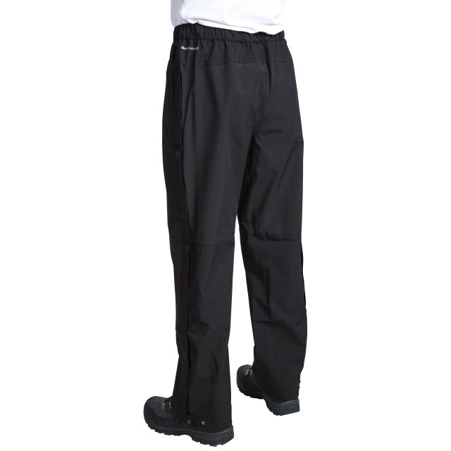 Crestone Men's DLX Packaway Waterproof Trousers in Black