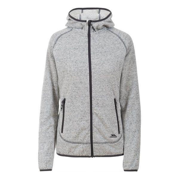 Crosswind Women's Fleece Hoodie in Light Grey