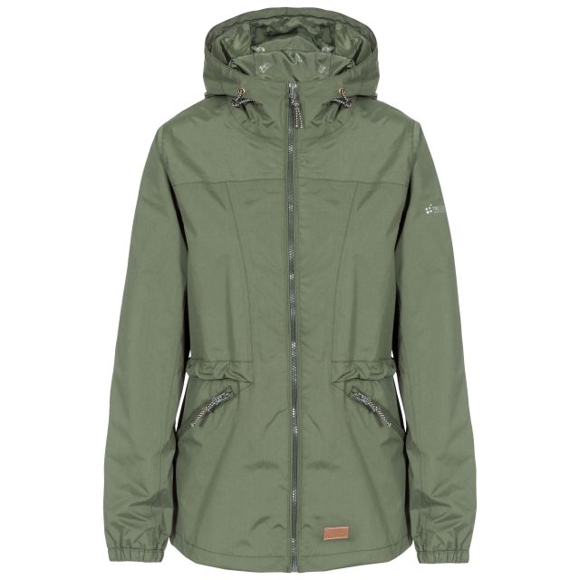 Trespass Womens Waterproof Jacket Windproof Cruella Green