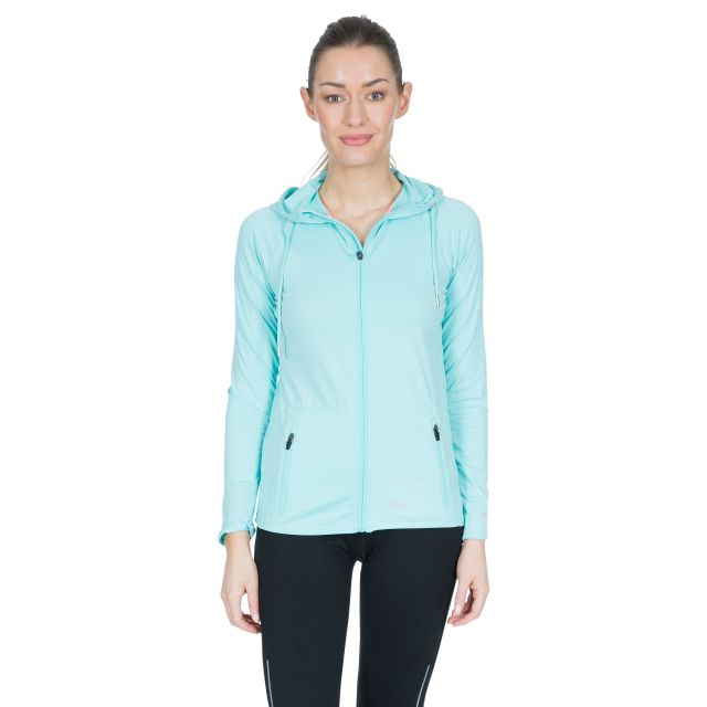 Dacre Women's Hooded Active Jacket in Light Blue