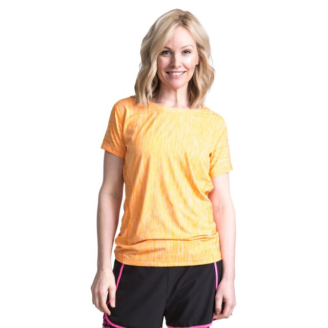 Daffney Women's Quick Dry Active T-Shirt in Orange