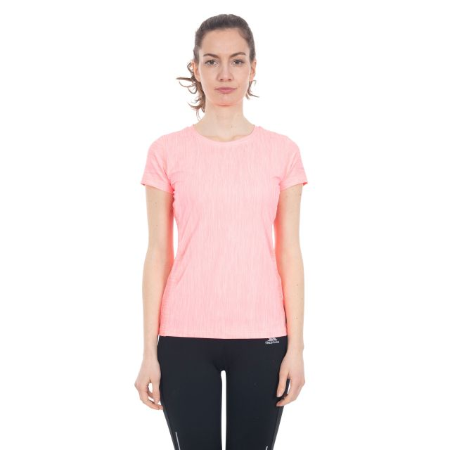 Daffney Women's Quick Dry Active T-Shirt in Peach