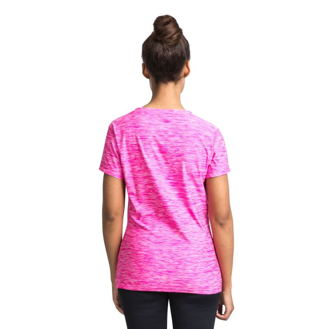Daffney Women's Quick Dry Active T-Shirt in Pink