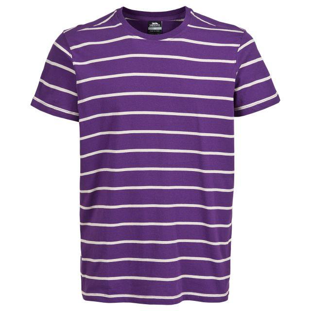 Dafoe Men's Striped Casual T-Shirt in Purple