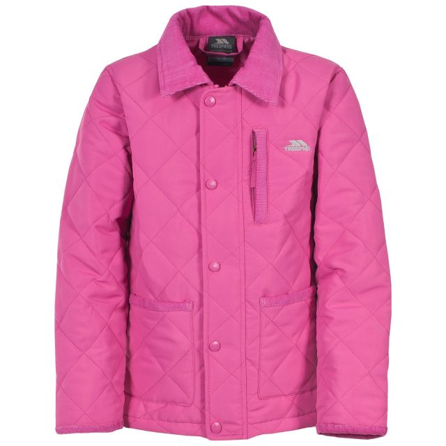Dakota Kids' Quilted Casual Jacket in Pink