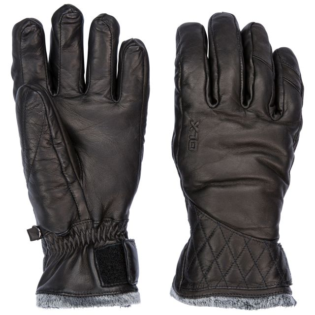 Daliana Unisex DLX Leather Gloves in Black