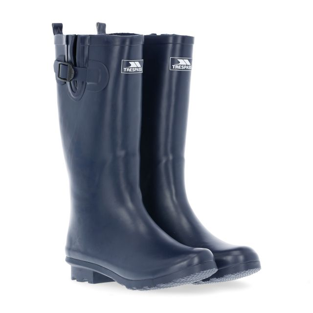 Damon Women's Waterproof Wellies in Navy