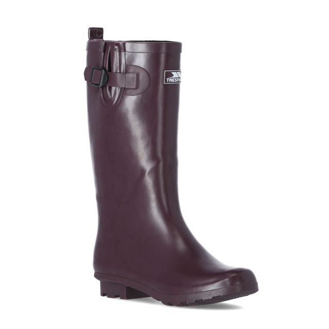 Damon Women's Waterproof Wellies in Burgundy
