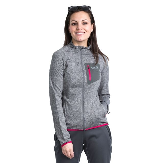 Darby Women's DLX Active Jacket in Light Grey