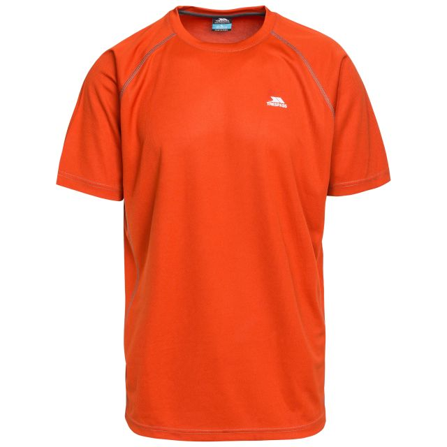 Debase Men's Quick Dry Active T-shirt in Orange