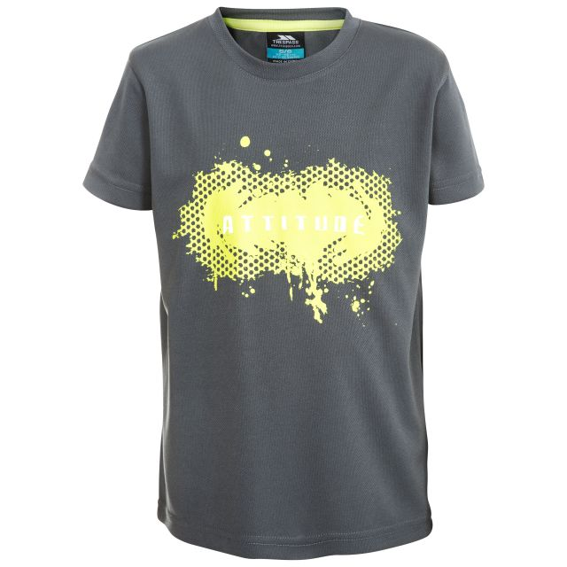 Declare Kids' Quick Drying Soft T-Shirt in Grey
