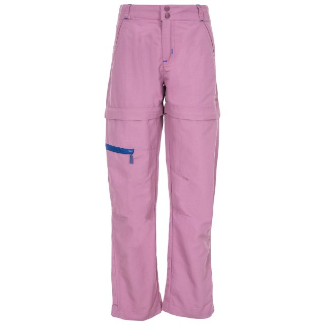 Defender Kids' Convertible Walking Trousers in Purple