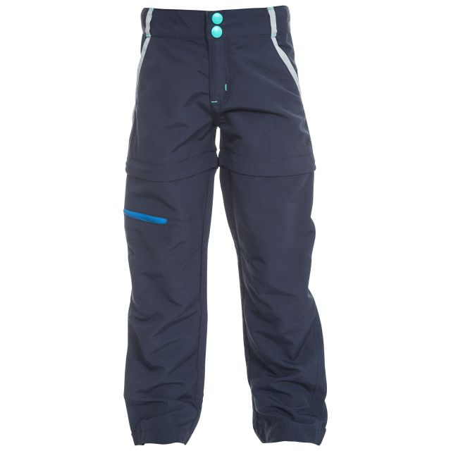 Defender Kids' Convertible Walking Trousers in Navy