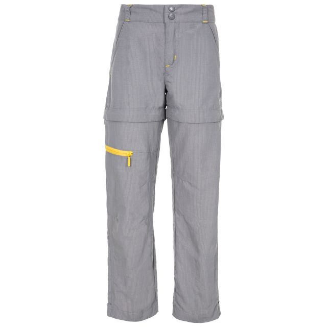 Defender Kids' Convertible Walking Trousers in Grey