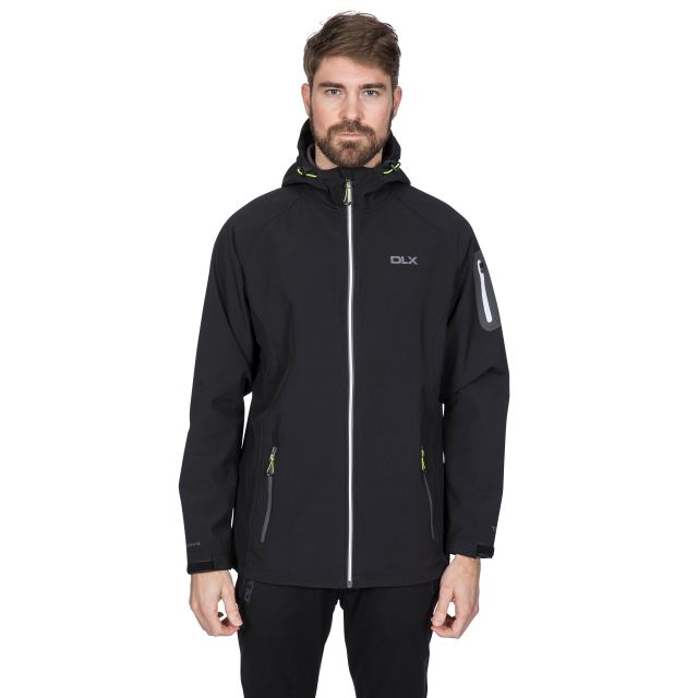 Delgado Men's DLX Waterproof Softshell Jacket in Black