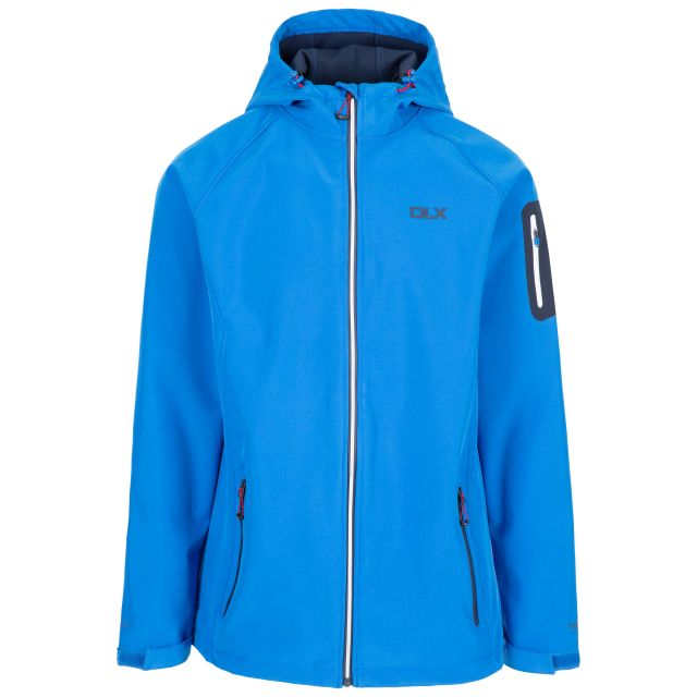 Delgado Men's DLX Waterproof Softshell Jacket in Blue