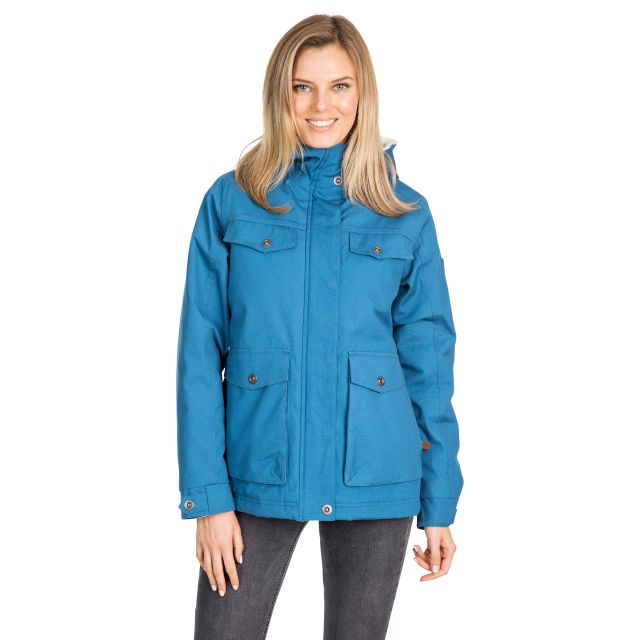 Devoted Women's Fleece Lined Waterproof Jacket in Blue