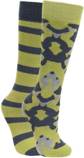 Diddle Kids' Printed Tube Socks - 2 Pack in Neon Green
