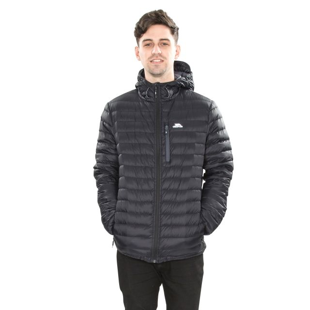 Digby Men's Down Packaway Jacket in Black