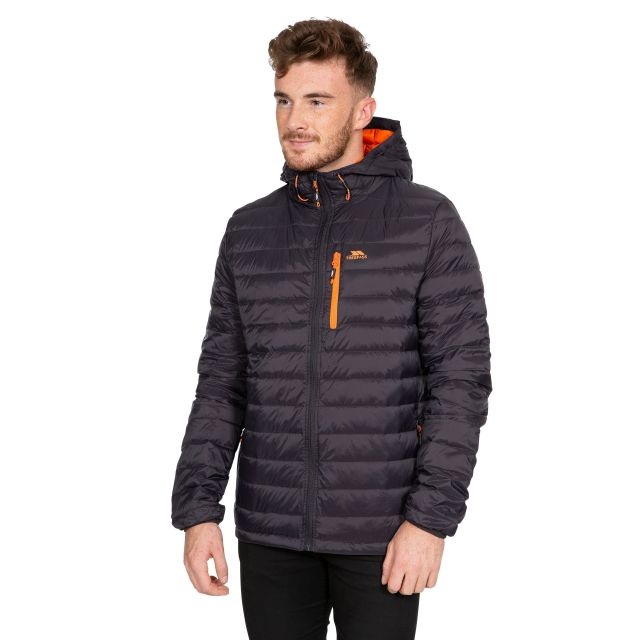 Digby Men's Down Packaway Jacket in Grey