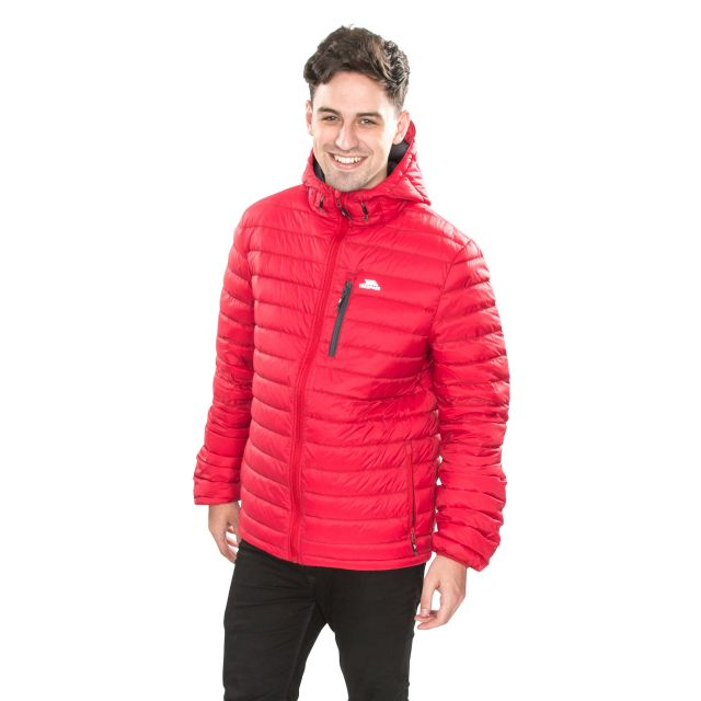 Digby Men's Down Packaway Jacket in Red