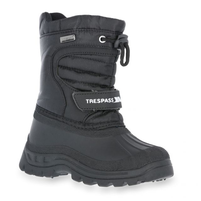 Trespass Kids Snow Boots Water Resistant Fleece Lined Dodo