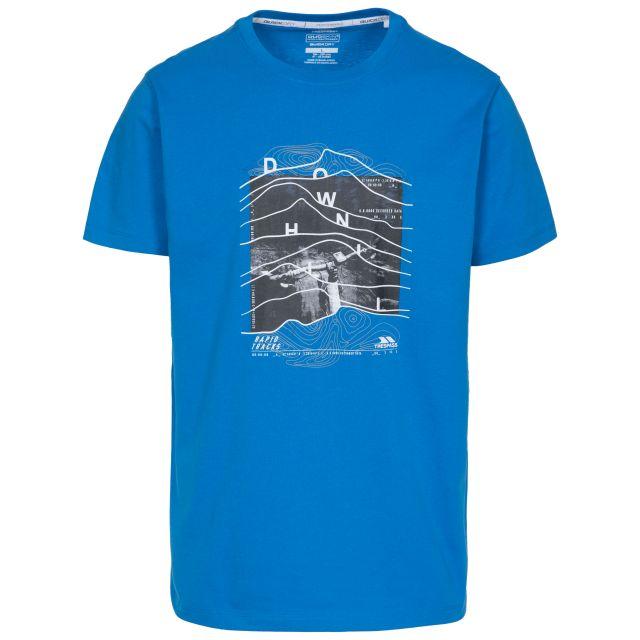 Downhill Men's Printed Casual T-Shirt - BLU
