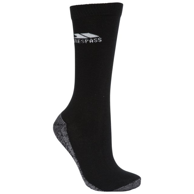 Downswing Unisex Walking Socks in Black