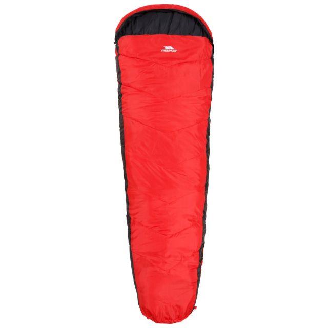 Doze 3 Season Water Repellent Sleeping Bag in Red, Front view