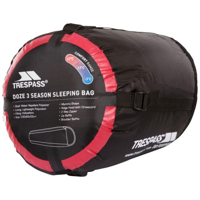 Doze 3 Season Water Repellent Sleeping Bag in Red