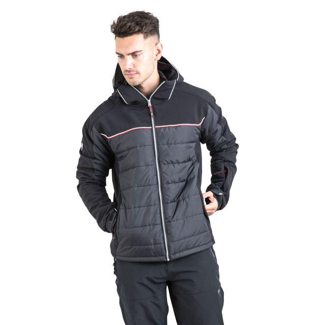Drafted Men's Windproof Padded Ski Jacket in Black