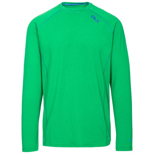 Drax Men's DLX Quick Dry Long Sleeve Active T-Shirt in Green