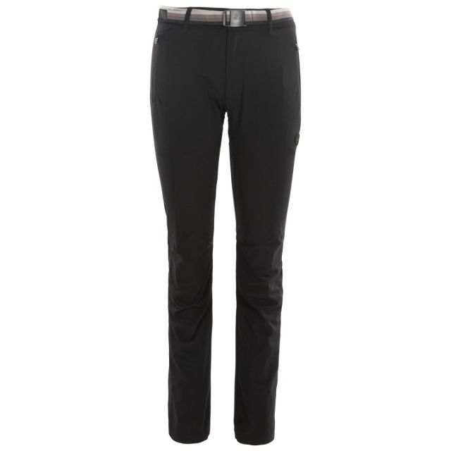Drena Women's DLX Walking Trousers in Black, Front view on mannequin