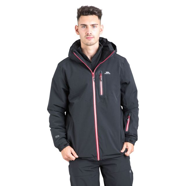 Duall Unisex Waterproof Ski Jacket in Black